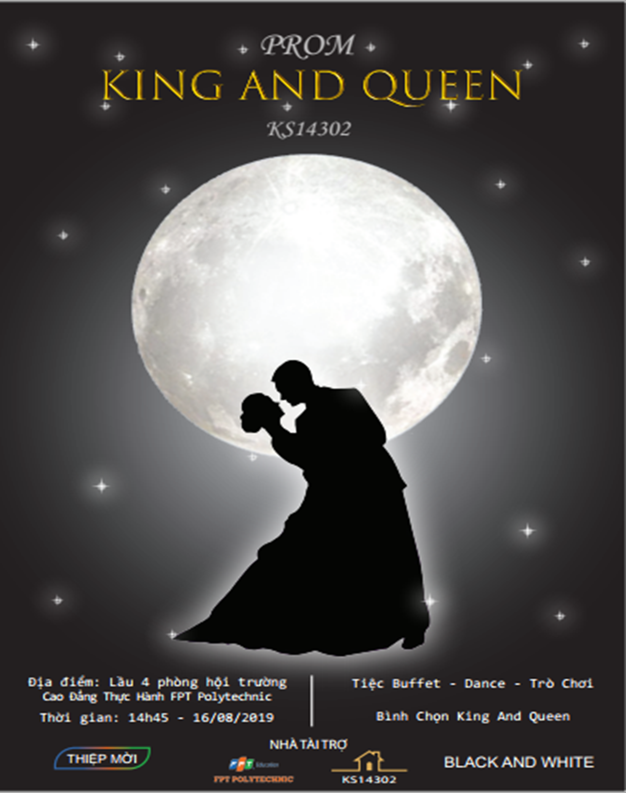 """Thiệp mời """" King And Queen """" lớp KS14302"""